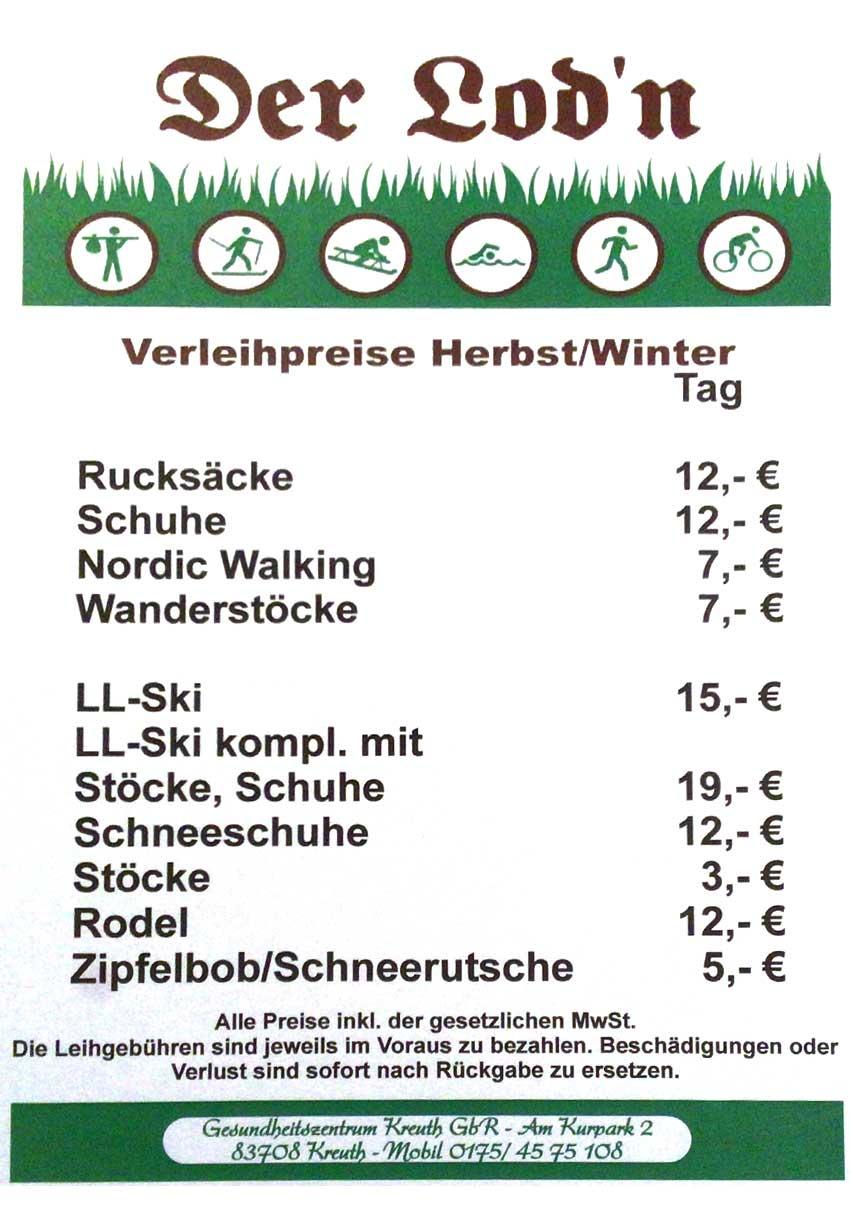 Preisliste Lod`n Herbst/Winter